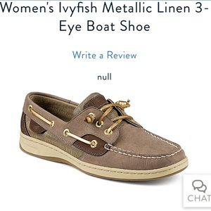Sperry Boat Shoes - Brown and Metallic